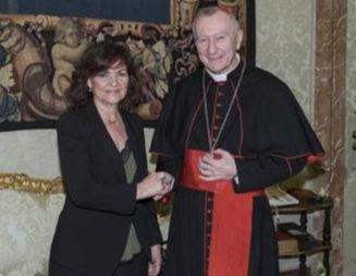 Carmen Calvo dice que el gobierno social-comunista de España reflexionará sobre la casilla de la Renta para la Iglesia